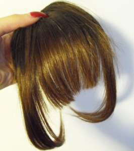 clip-in bangs hairpiece -front