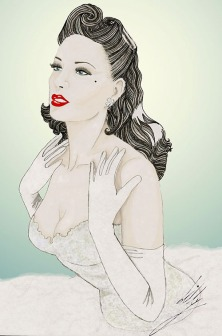 Pinup icon Dita Von Teese Portrait by Lilly F Lie.