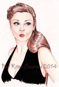 custom pinup art portrait